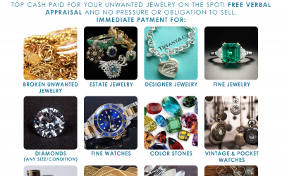 Jewelry Buying Event – Top Cash Paid For Your Unwanted Jewelry